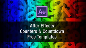countdown templates after effects counter and countdown free templates