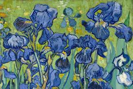 detail of irises 1989 vincent van gogh oil on canvas 29 1