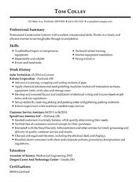 Sample Of Qualifications For A Resumes View 30 Samples Of Resumes By Industry Experience Level