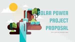 Project Proposal Presentation Solar Power Project Proposal Free Presentation Template