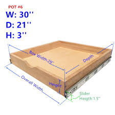 Amazoncom Elysian Roll Wood Tray Drawer Boxes Kitchen Organizers
