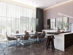 Home Decoration  Impressive Home Interior Living Room Design - Modern dining room curtains