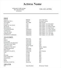 Theater Resume Template Simple Actors Resume Template Word Actor Resume Template Word Download