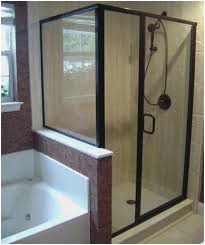 frameless hinged tub door oil rubbed bronze elegant frameless bypass shower doors oil rubbed bronze of
