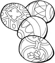 Quattro Uova Di Pasqua Particolari Disegno Da Colorare Disegni Da