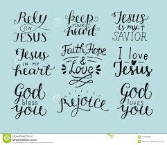 Lensemble De Dieu Chrétien De 9 De Main Citations De Lettrage Vous