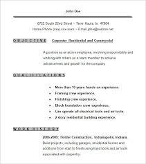 Carpenter Resume | Berathen.com