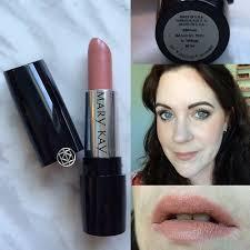 mary kay gel semi matte lipstick swatch in bashful you