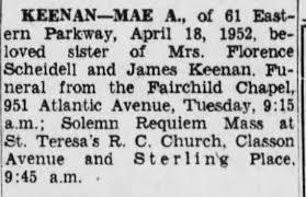 Mae Keenan Death Notice - Newspapers.com