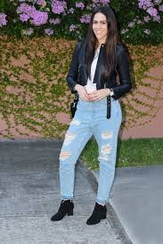 boyfriend jeans and leather jacket