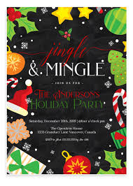 Christmas Holiday Invitations Jingle And Mingle Christmas Party Invitation 2