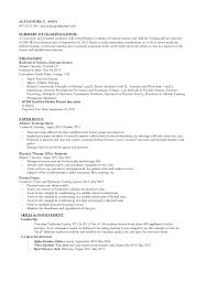Exercise Science Resume Examples Exercise Science Resume Barca Fontanacountryinn Com
