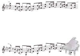 ピアノと楽譜のフレーム