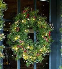Outdoor Lighted Wreath Mesmerizing Amazon Lighted Outdoor BatteryOperated Holiday Wreath With