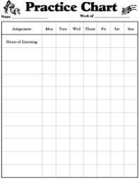 Free Printable Music Practice Charts Precise Violin Practice Chart Printable Free Printable