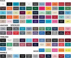 Comfort Colors T Shirts Color Chart Tshirts On You Color Selections