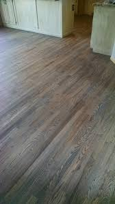 red oak floor with custom gray stain
