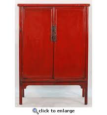red lacquered furniture. Chinese Antique Cinnabar Red Lacquered 2-Door Cabinet Furniture T
