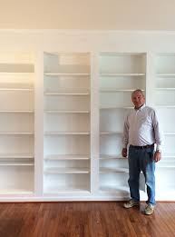 dad new library shelves