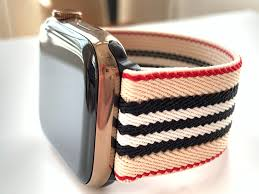 Designer Apple 4 Watch Bands Elastic Apple Watch Band Series 4 3 2 1 Fitbit Blaze Designer Stripes
