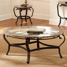 coffee table fabulous glass top wood round base meta