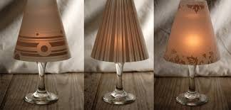 lamp shades for candles wonderful diy fancy wine glass candle lampshades 3
