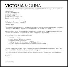 Radiation Therapist Cover Letter Sample