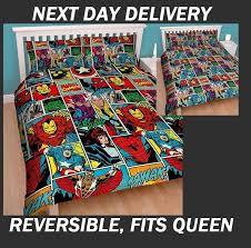 marvel avengers comics doona quilt duvet cover