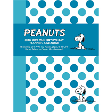 Online Planning Calendar 9781449492397 Peanuts Monthly Weekly Planning 2019 Engagement