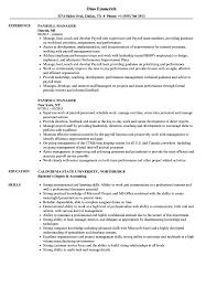 Payroll Manager Resume Sample Payroll Manager Resume Samples Velvet Jobs 1