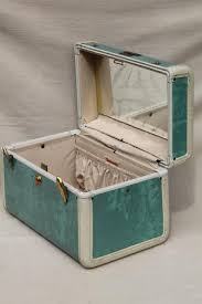 vine samsonite luge vanity train case makeup kit w mirror box bag suitcase