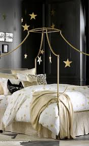 Maison Canopy Bed, Full, Dark Iron | Color Crush: Gold | Bedroom ...