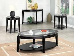 black glass coffee table set living room