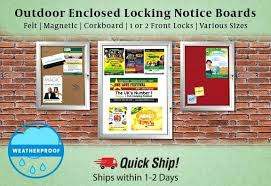 outdoor enclosed bulletin boards canada