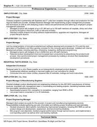 Project Manager Resume Page 2