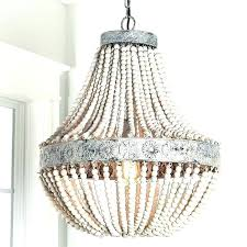 chandeliers world market chandelier wood bead images gray and iron beaded wooden