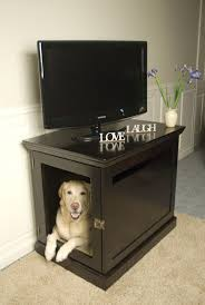 furniture denhaus wood dog crates. double duty tv stand and hidden dog crate vl this is such a good idea i may have to make save space furniture denhaus wood crates t