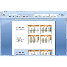 Microsoft Word Schedule Templates Download Pocket Calendar Template Microsoft Word Tips