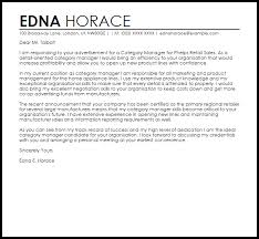 Cover Letter For Product Manager Position Category Manager Cover Letter Sample Cover Letter