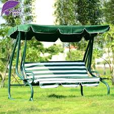 outside swings with canopy converting outdoor green white stripe swing canopy hammock patio deck furniture patio