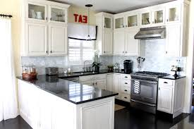 ... Amazing Black Kitchen Countertops In U Shape Kitchen Cabinets Decor For  Modern Kitchen Ideas Kitchen, Contemporary Best Kitchen Ideas For Small  Kitchens ...
