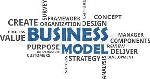 Word Models A Word Cloud Of Business Model Related Stock Vector