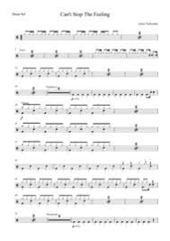 drum set sheet music download cant stop the feeling by justin timberlake drum set