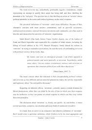 terrorism essay student joao cotrim 4 5 politics of representation terrorism