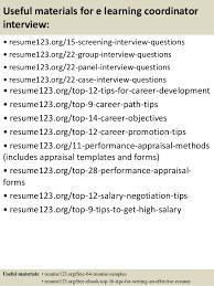 E Learning Resume Objective Piqqus Com