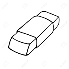 eraser clipart black and white. eraser icon. outlined on white background. stock vector - 61531156 clipart black and