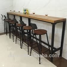 Narrow bar table Console Table Industrial Iron Furniture Commercial High Top Long Narrow Wood Bar Tables Alibaba Industrial Iron Furniture Commercial High Top Long Narrow Wood Bar