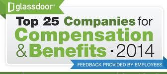 glassdoor releases top 25 companies for compensation benefits for 2016