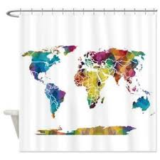purple and gold shower curtains. Geometric Map Shower Curtain - Colorful Triangles Abstract Curtain, Blue, Teal Purple And Gold Curtains I