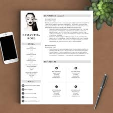 modern resume template the samantha rose